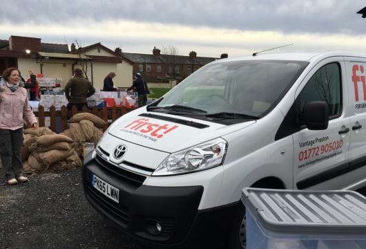 Vantage Toyota helping local flood victims in Lancashire
